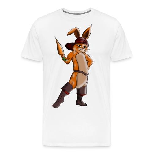 Hase mit Möhre - Männer Premium T-Shirt