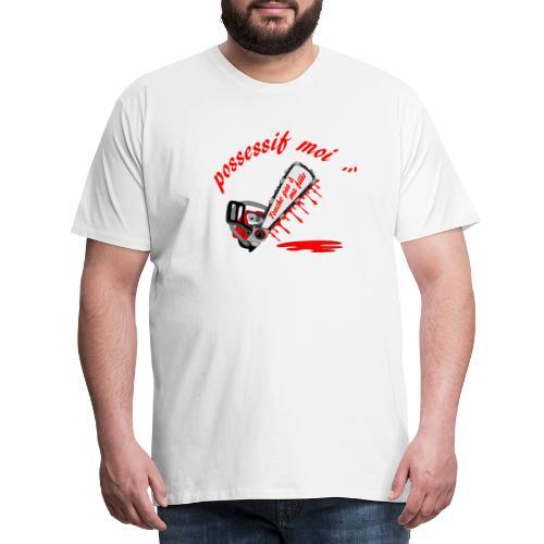 t shirt possessif moi touche pas à ma fille - T-shirt Premium Homme