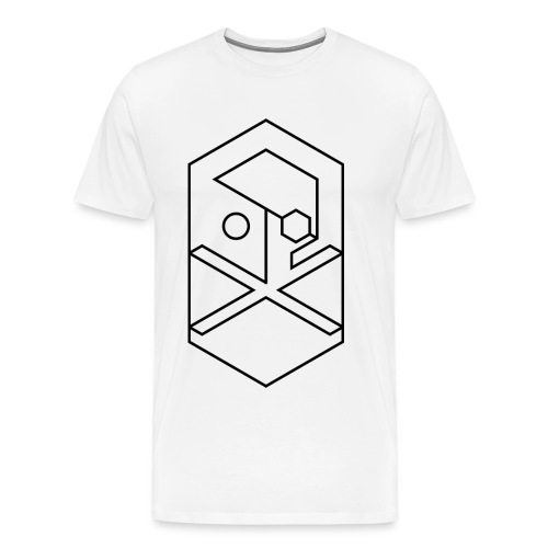 crossbones outline B png - Men's Premium T-Shirt