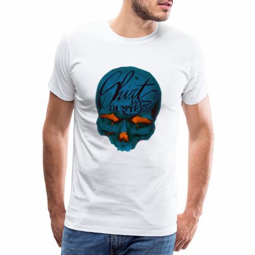 Dum Skull Orange glow - Mannen Premium T-shirt