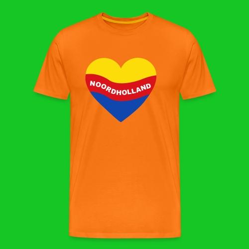 Love Noord Holland Hart.png - Mannen Premium T-shirt