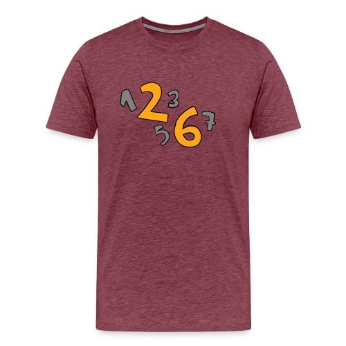 1 2 3 5 6 7 - Camiseta premium hombre