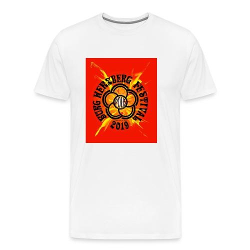 oranger hintergrund mit - Männer Premium T-Shirt