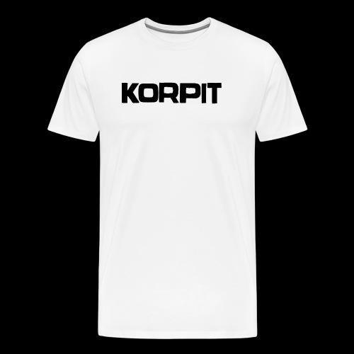 Official logo musta - Miesten premium t-paita