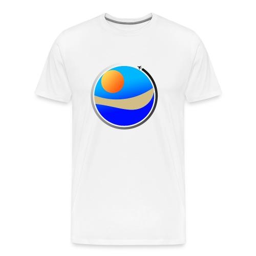 Travel Life 1 - Premium T-skjorte for menn