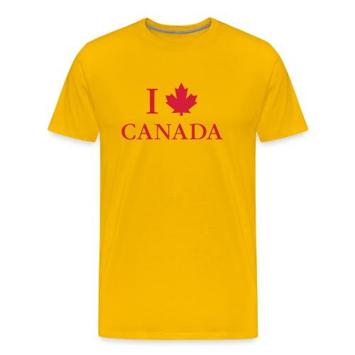 I love Canada Ahornblatt Kanada Vancouver Ottawa - Männer Premium T-Shirt