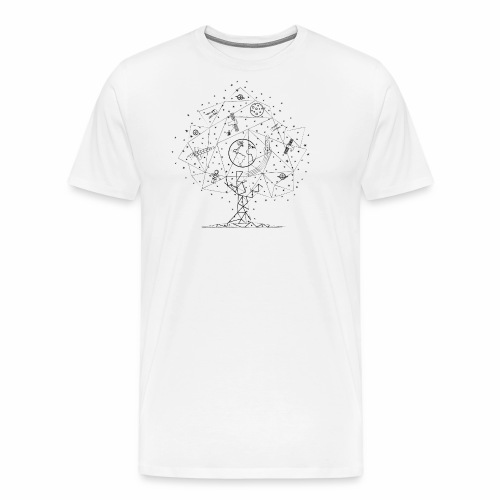 Interpretacja woodspace - Koszulka męska Premium
