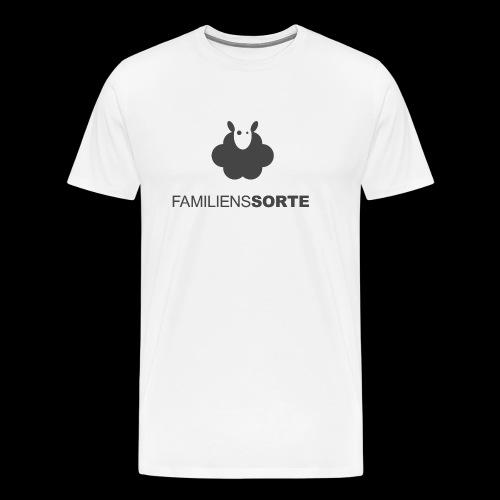 FamilensSorte - Premium T-skjorte for menn