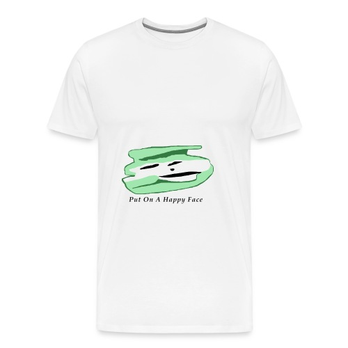 Green White Ghost Face - Men's Premium T-Shirt