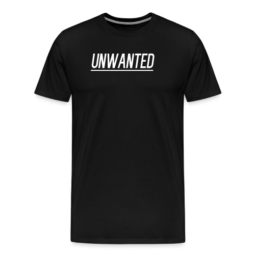 UNWANTED Logo Tee White - Men's Premium T-Shirt