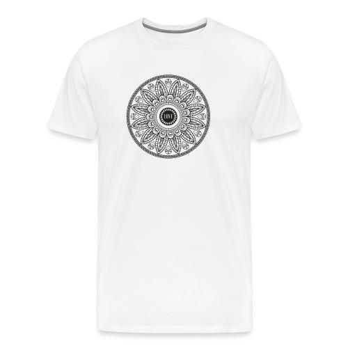 Mandala mit Schriftzug Love - Männer Premium T-Shirt
