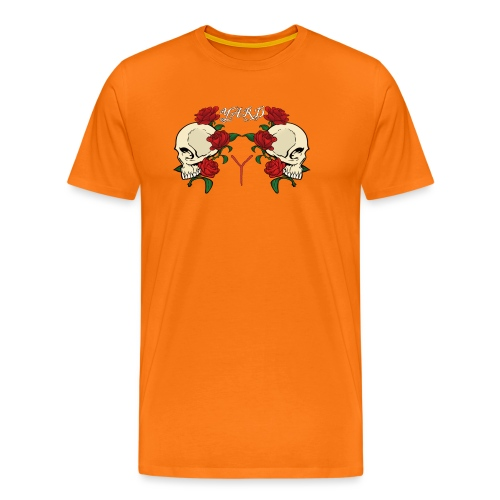 YARD skull and roses - Mannen Premium T-shirt