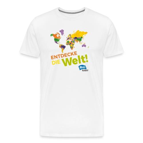Entdecke die Vielfalt der Welt mit AFS - Männer Premium T-Shirt