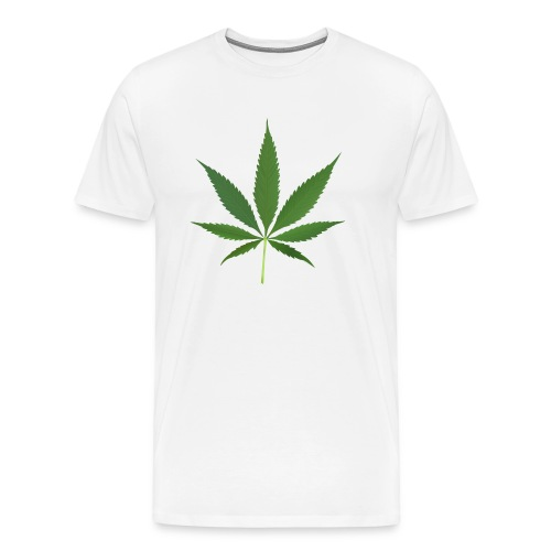 2000px-Cannabis_leaf_2 - Herre premium T-shirt