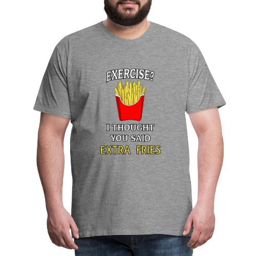 Extra Fries - Männer Premium T-Shirt
