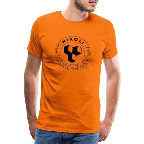 Nikolin musta logo - Miesten premium t-paita