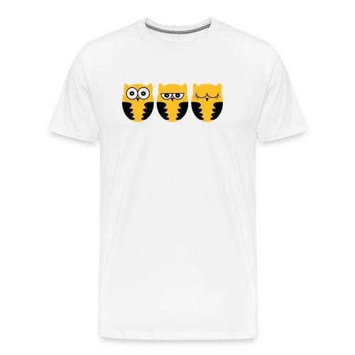 Eulen müde - Männer Premium T-Shirt