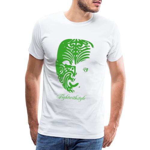 Maske grün mit schrift 2 png - Männer Premium T-Shirt