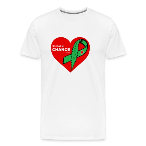 Giv livet en chance mere - Herre premium T-shirt