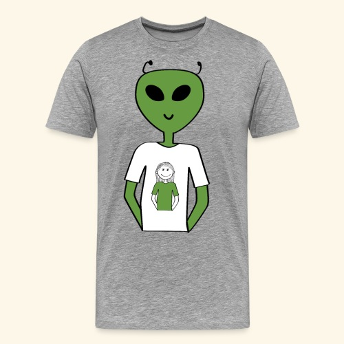 Alien human T-shirt T-shirt - Premium-T-shirt herr