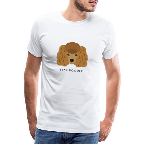 Poodle Brown - Maglietta Premium da uomo
