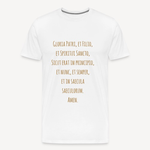 Gloria Patri, et Filio - Men's Premium T-Shirt