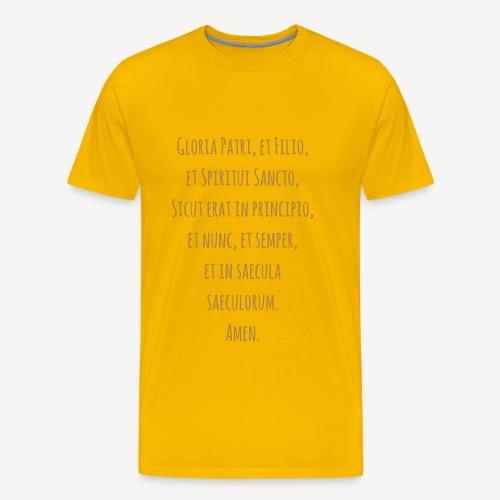 Gloria Patri, et Filio - Men's Premium T-Shirt