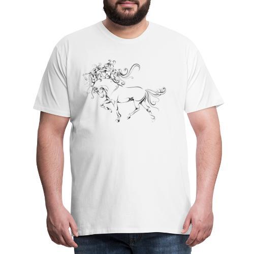 Die wallende Mähne - Männer Premium T-Shirt