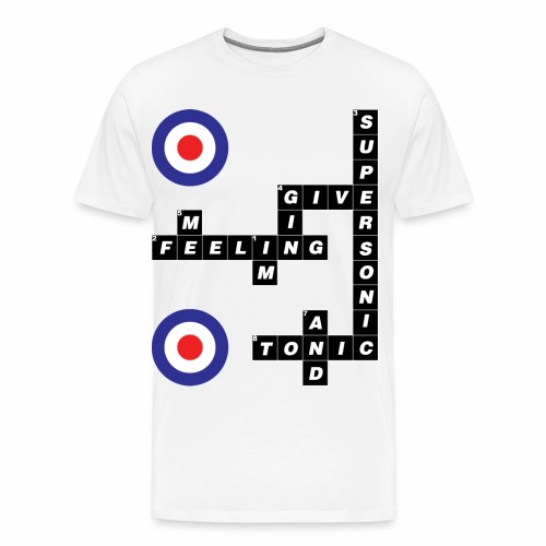 Supersonic - Crossword BW - Men's Premium T-Shirt