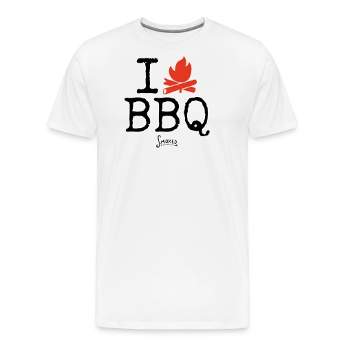 T Shirt I love BBQ b png - Männer Premium T-Shirt