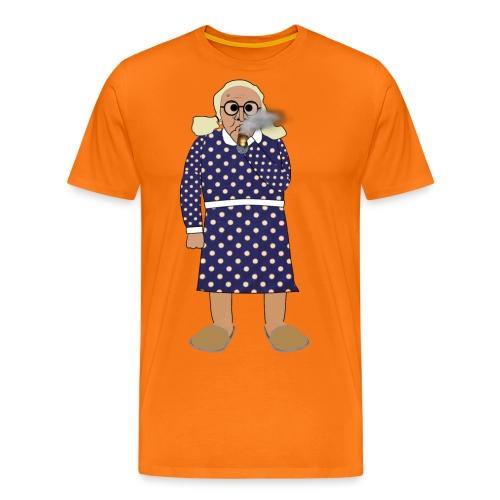 Kerstin röker png - Premium-T-shirt herr