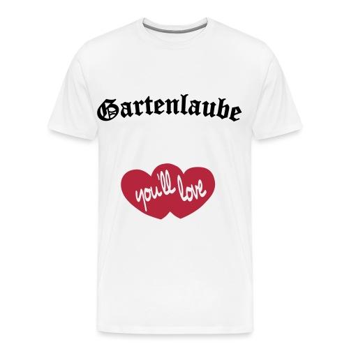 Gartenlaube Logo - Männer Premium T-Shirt