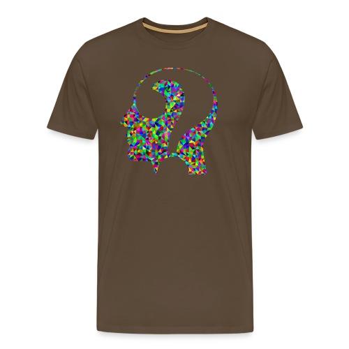 Fragender Kopf - Männer Premium T-Shirt