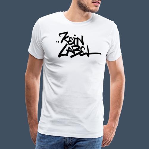 Kein Label Schwarz - Männer Premium T-Shirt