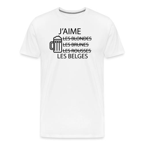 J'aime les belges - T-shirt Premium Homme