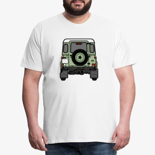 Defender - Rear - Premium-T-shirt herr