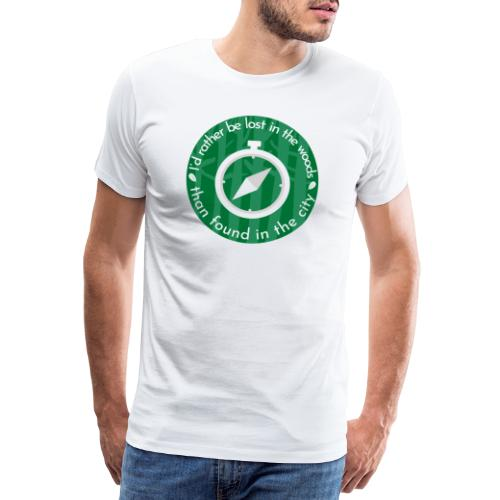 I rather be lost in the woods - Mannen Premium T-shirt