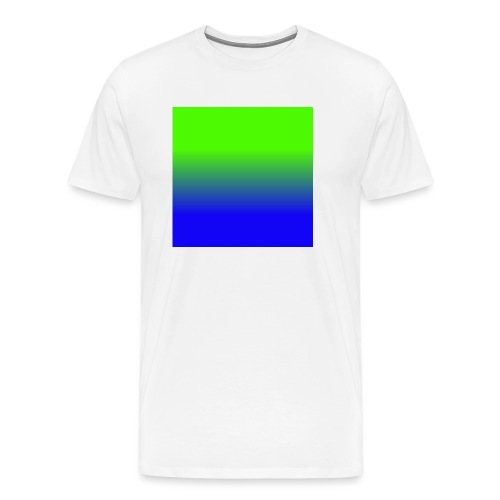 Linear pattern of green and blue - Men's Premium T-Shirt