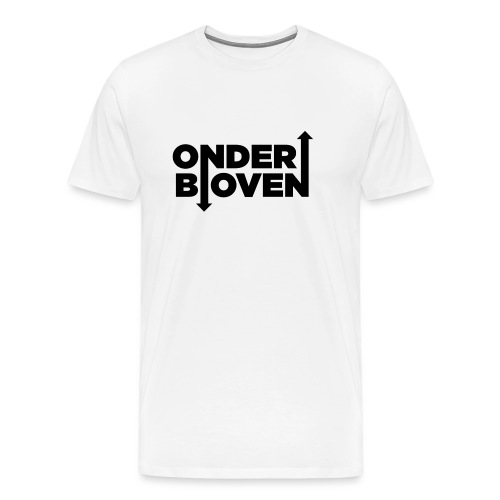LOGO_ONDERBOVEN - Mannen Premium T-shirt