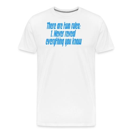 Two rules - Premium T-skjorte for menn