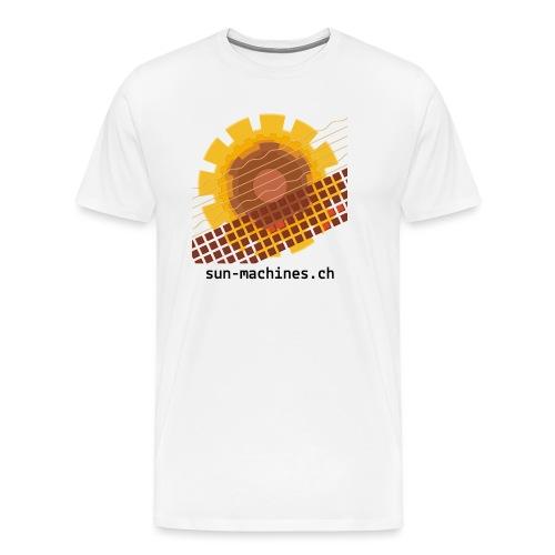 sunmachines logo text transparent png - Männer Premium T-Shirt