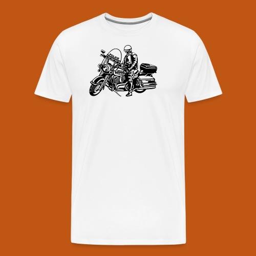 Motorradpolizei / Motorcycle Police 01_schwarz - Männer Premium T-Shirt