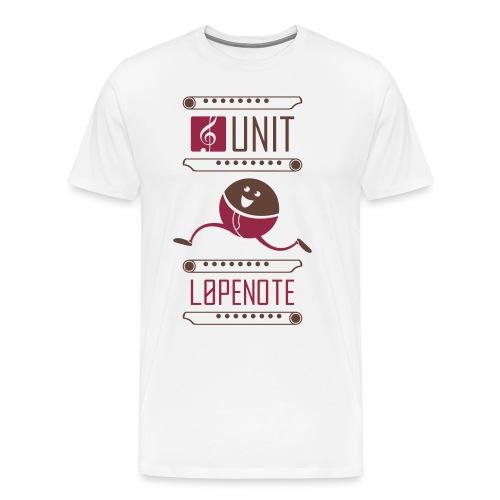 lopenote - Premium T-skjorte for menn