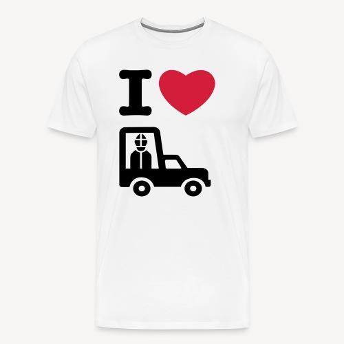 I LOVE THE POPEMOBILE - Men's Premium T-Shirt