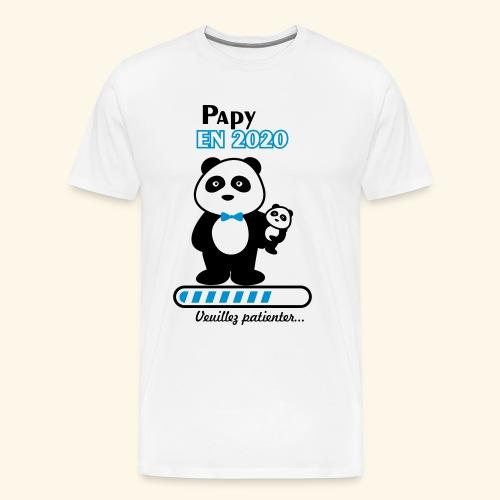 papy en 2020,Bientôt Papy,futur grand-père - T-shirt Premium Homme