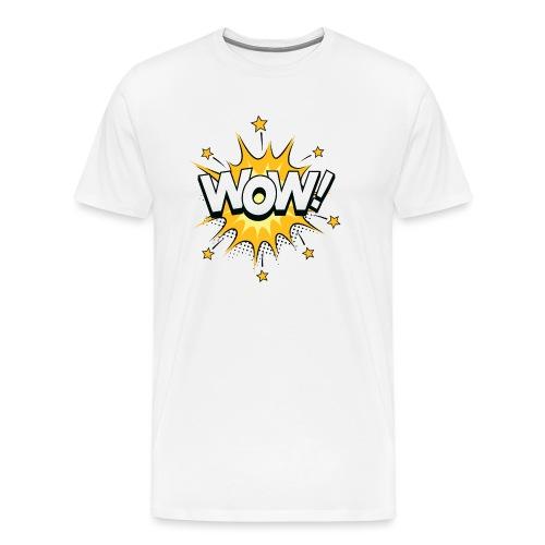 Bulle dialogue Bande dessinée WOW - T-shirt Premium Homme