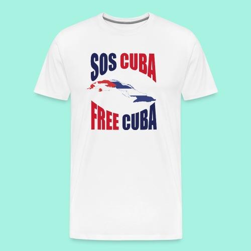 SOS CUBA FREE CUBA - Camiseta premium hombre