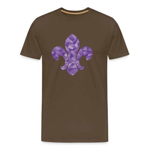 geo-lilie-purple - Men's Premium T-Shirt