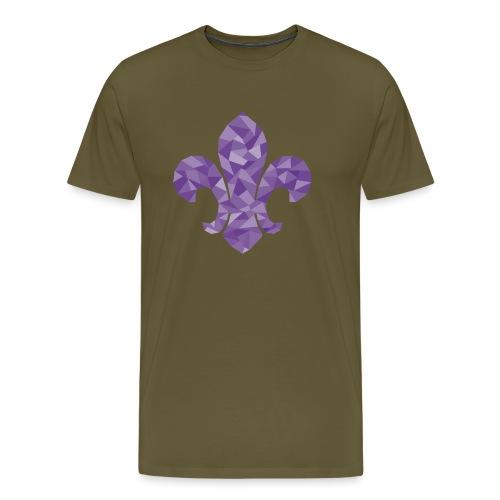 geo-lilie-purple - Men's Premium T-Shirt