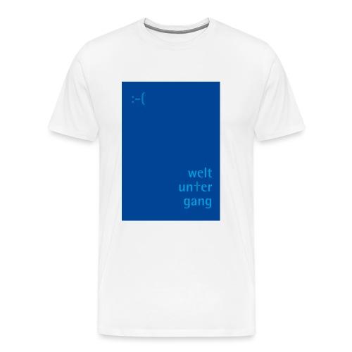 Weltuntergang - Männer Premium T-Shirt